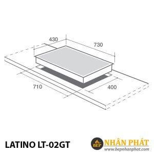 BẾP GAS KẾT HỢP TỪ LATINO LT-02GT