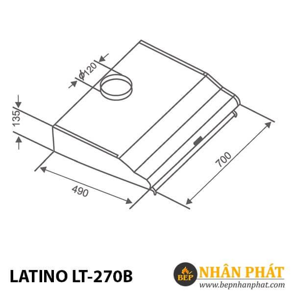 MÁY HÚT MÙI CỔ ĐIỂN LATINO LT-270B