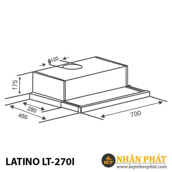 MÁY HÚT MÙI CỔ ĐIỂN LATINO LT-270I