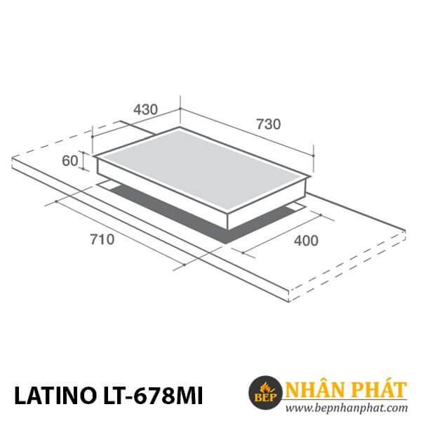BẾP CẢM ỨNG TỪ LATINO LT-678MI
