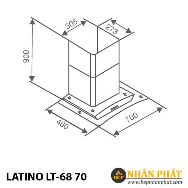 MÁY HÚT MÙI KÍNH CONG LATINO LT-68 70