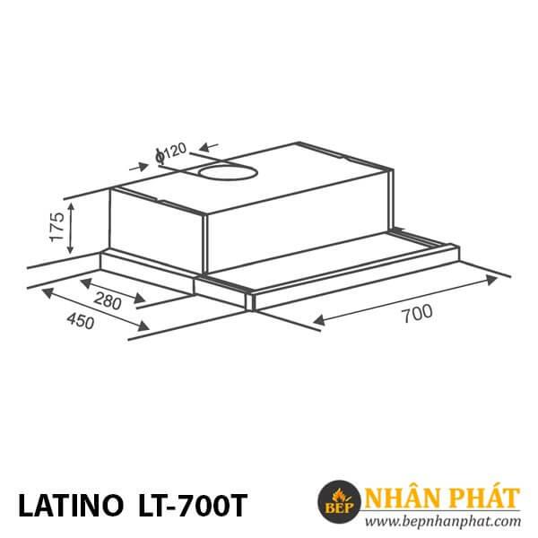 MÁY HÚT MÙI LATINO LT-700T