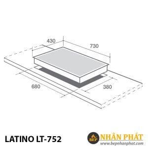 BẾP GAS ÂM LATINO LT-752