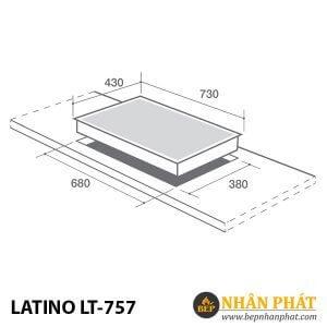 BẾP GAS ÂM LATINO LT-757
