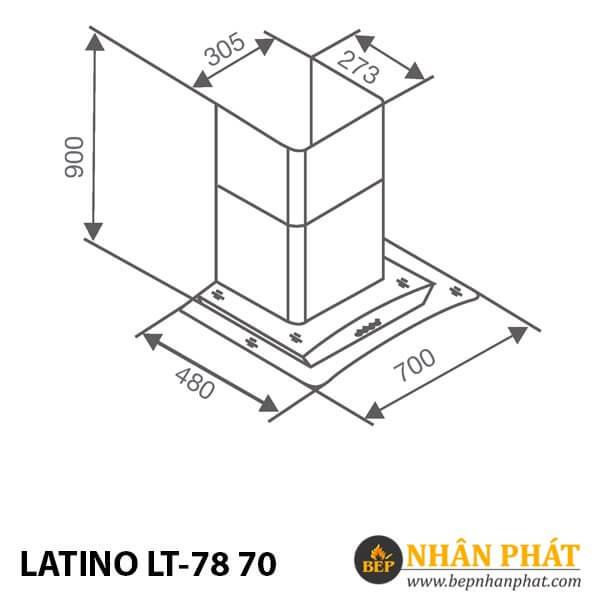 MÁY HÚT MÙI KÍNH CONG LATINO LT-78 70