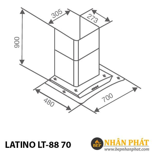 MÁY HÚT MÙI KÍNH CONG LATINO LT-88 70