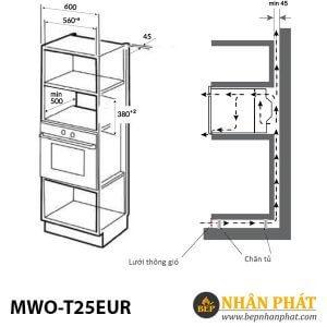 LÒ VI SÓNG ÂM TỦ EUROSUN MWO-T25EUR