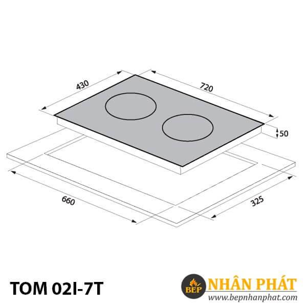 BẾP TỪ TOMATE TOM 02I-7T