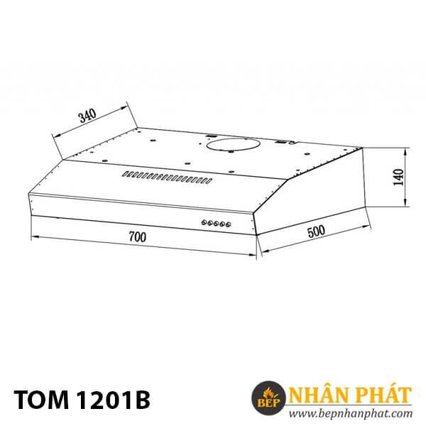Máy hút khử âm tủ TOM 1201B
