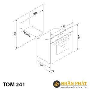 Lò nướng âm tủ Tom 241