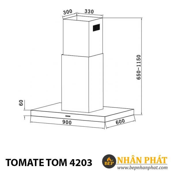 MÁY HÚT MÙI ỐNG KHÓI TOMATE TOM 4203