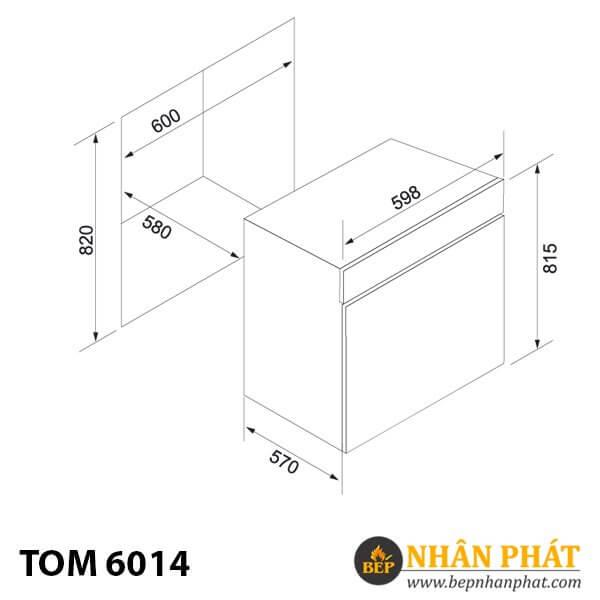 Máy rửa chén âm tủ TOM 6014