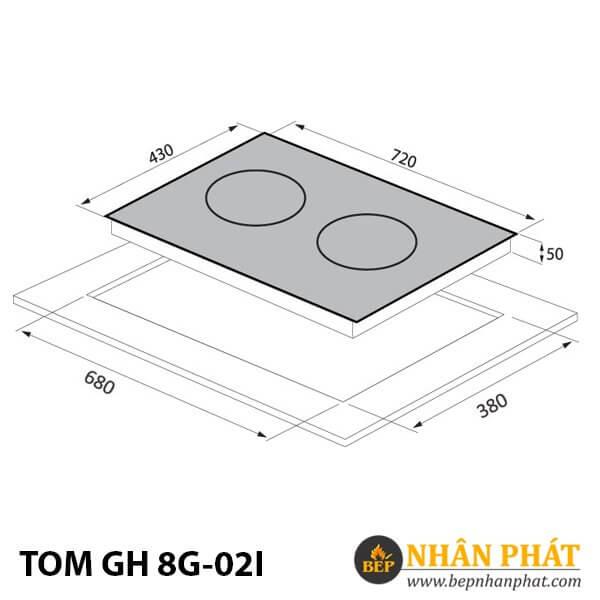 BẾP TỪ TOMATE TOM GH 8G-02I