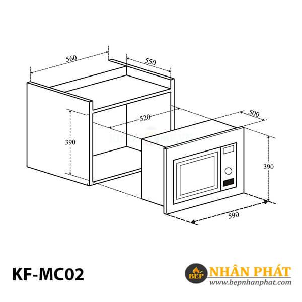 LÒ VI SÓNG ÂM TỦ KAFF KF-MC02 3
