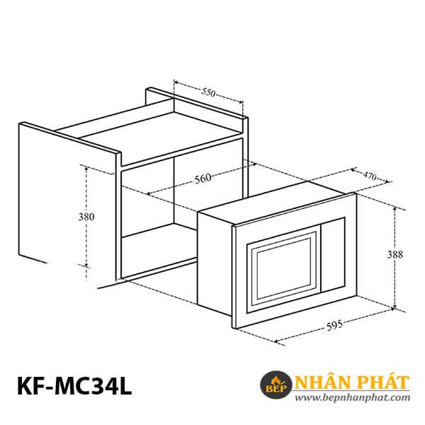 LÒ VI SÓNG ÂM TỦ KAFF KF-MC34L 2