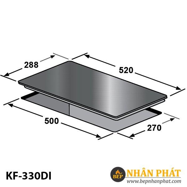 BẾP ĐIỆN TỪ DOMINO KAFF KF-330DI