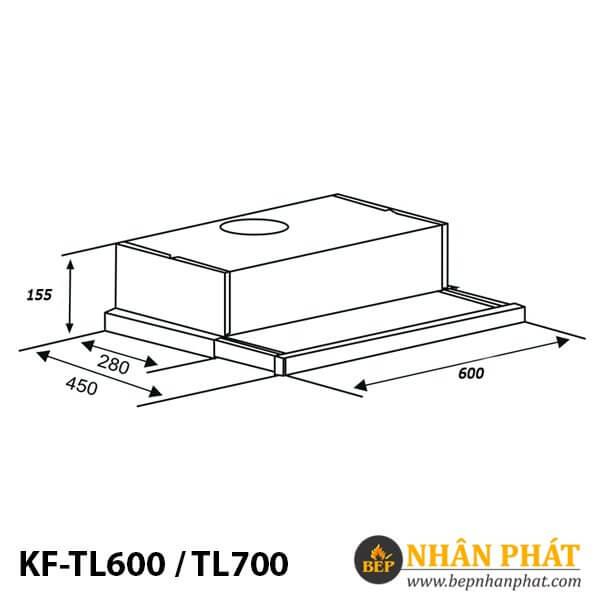 MÁY HÚT MÙI CỔ ĐIỂN KAFF KF-TL600 / TL700