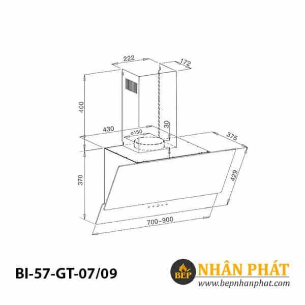 Máy hút mùi ống khói BINOVA BI-57-GT-07/09 5