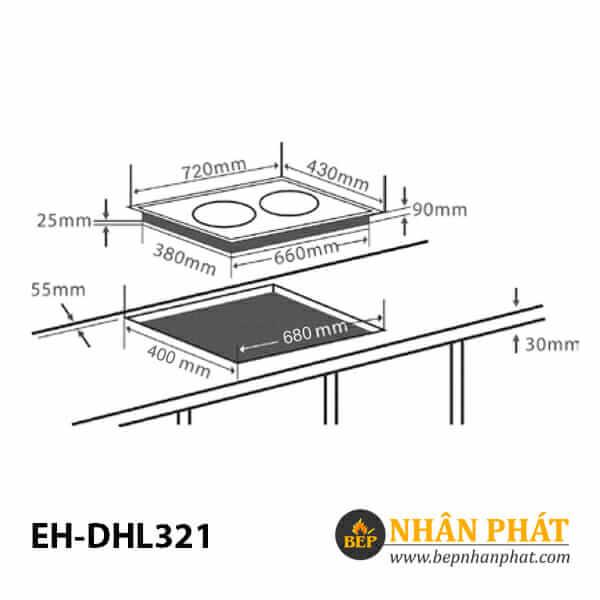 Bếp hồng ngoại CHEF'S EH-DHL321 4