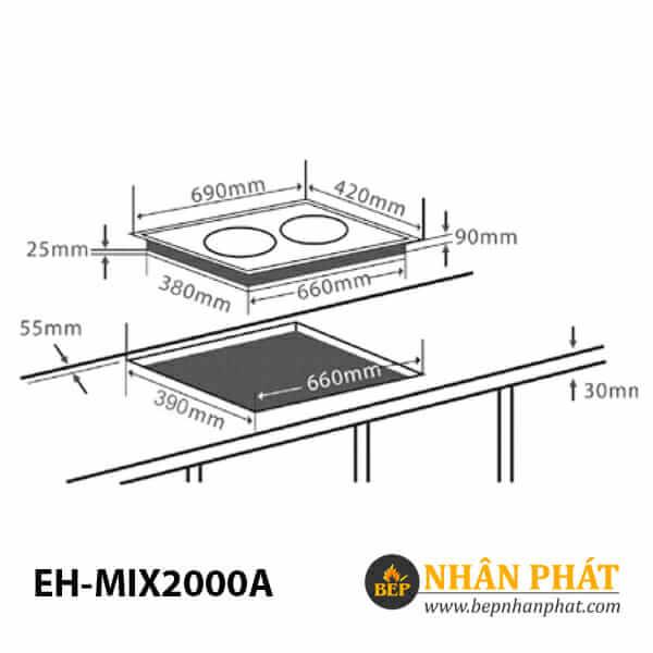 Bếp điện từ CHEF'S EH-MIX2000A 5