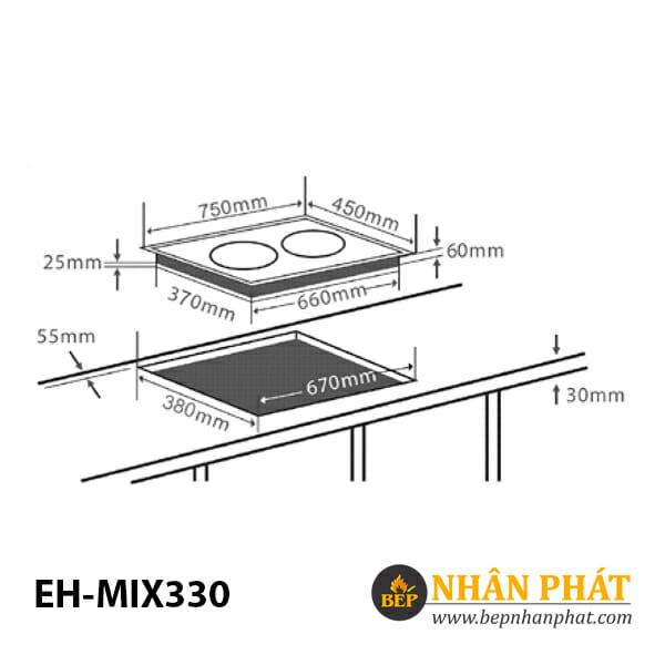 Bếp điện từ CHEF'S EH-MIX330 5