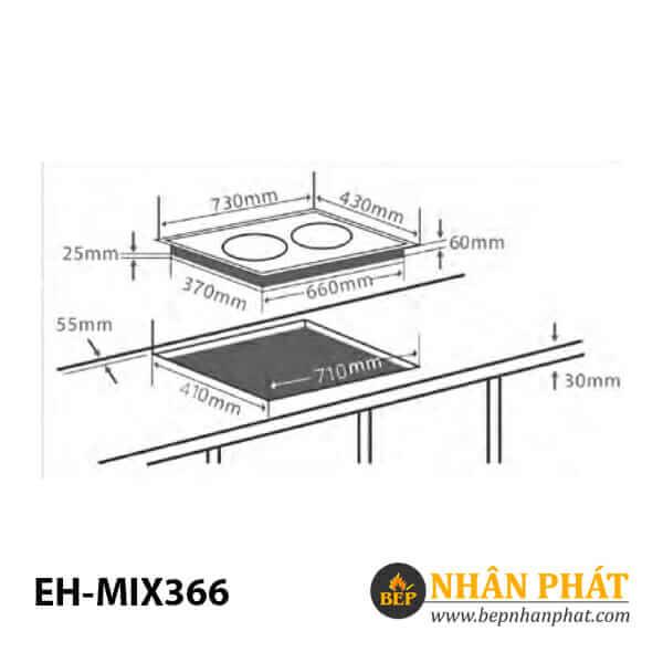 Bếp điện từ CHEF'S EH-MIX366 5