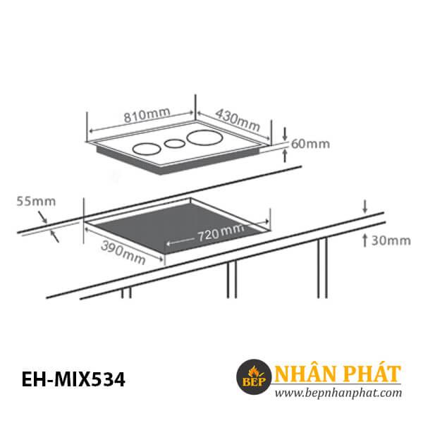 Bếp điện từ CHEF'S EH-MIX534 4