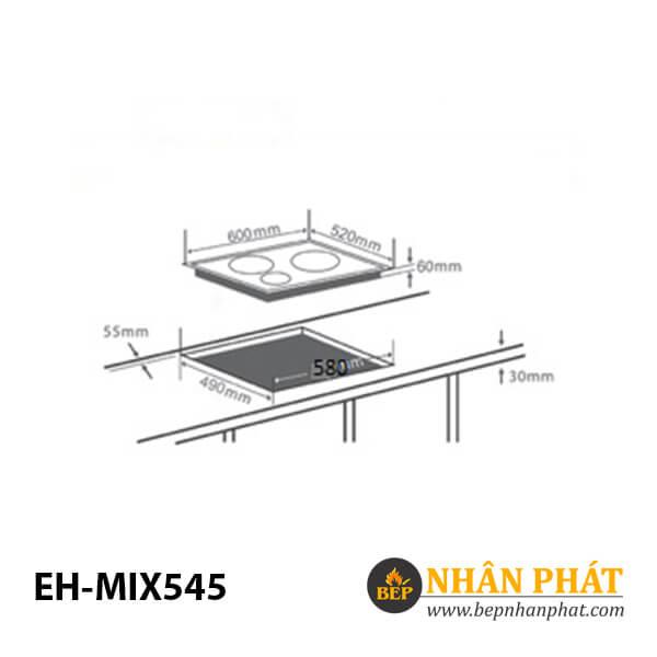 Bếp điện từ CHEF'S EH-MIX545 4