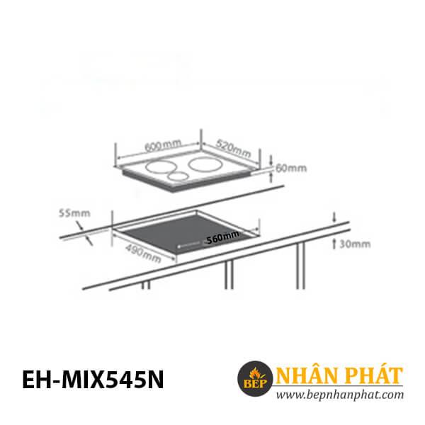 Bếp điện từ CHEF'S EH-MIX545N 4
