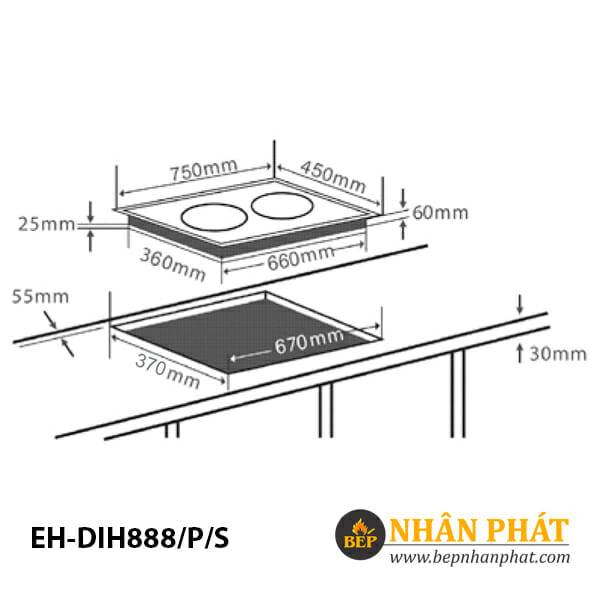 Bếp từ CHEF'S EH-DIH888/P/S 5