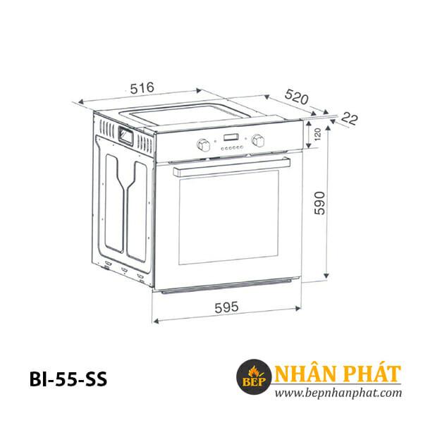 Lò nướng âm tủ BINOVA BI-55-SS 5