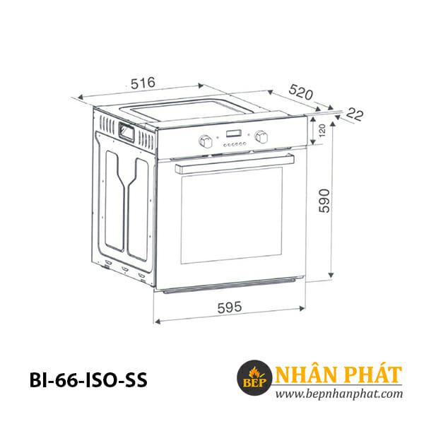 Lò nướng âm tủ BINOVA BI-66-ISO-SS 5