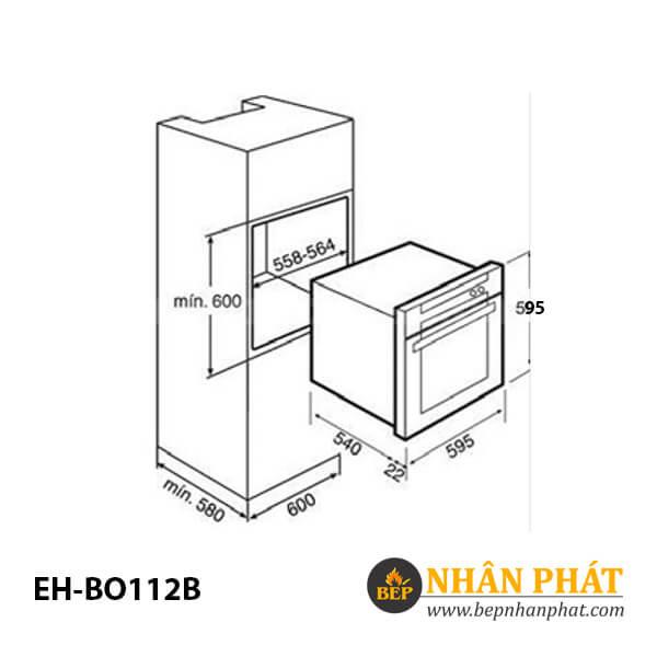 Lò nướng CHEF'S EH-BO1112B 4