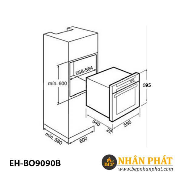 Lò nướng CHEF'S EH-BO9090B 4