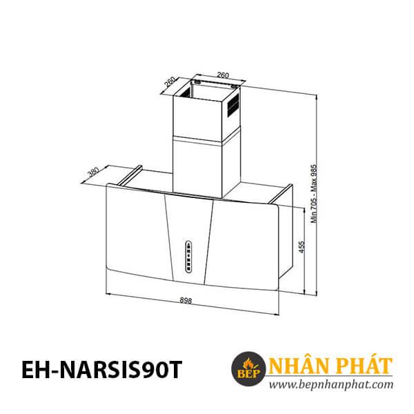 Máy hút mùi CHEF'S EH-NARSIS90T 4