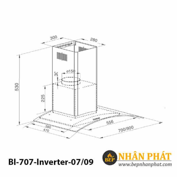 Máy hút mùi kính cong BINOVA BI-707-Inverter-07/09 5
