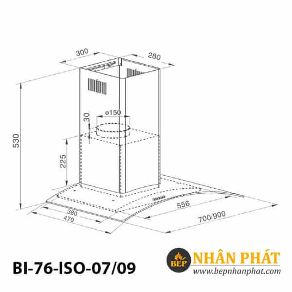 Máy hút mùi kính cong BINOVA BI-76-ISO-07/09 5