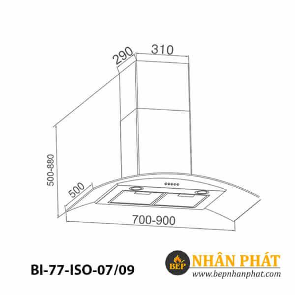 Máy hút mùi kính cong BINOVA BI-77-ISO-07/09 5