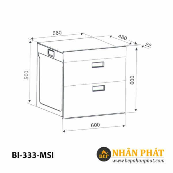 Máy sấy chén âm tủ BINOVA BI-333-MSI 5
