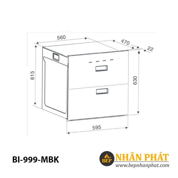 Máy sấy chén âm tủ BINOVA BI-999-MBK 5