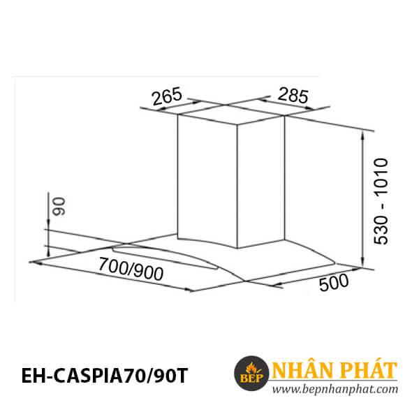 Máy hút mùi kính cong CHEF'S EH-CASPIA70/90T 4