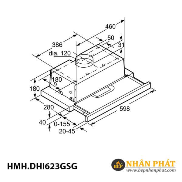 Máy hút mùi âm tủ Bosch HMH.DHI623GSG Serie 4 - 60cm 5