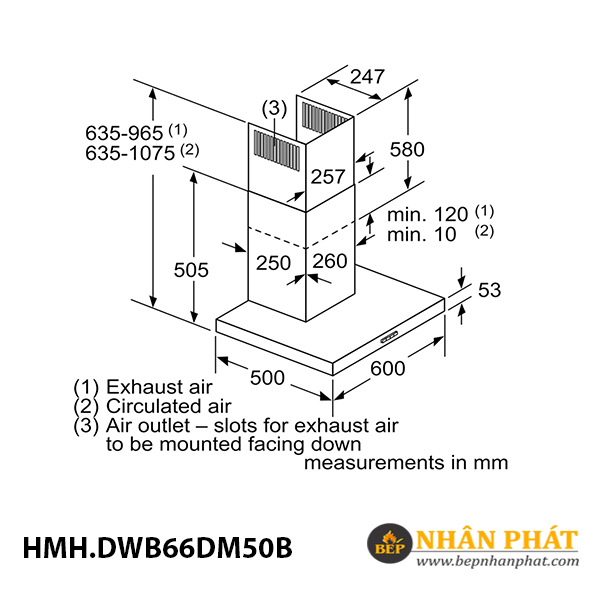 Máy hút mùi gắn tường Bosch HMH.DWB66DM50B Serie 4 - 90cm 5