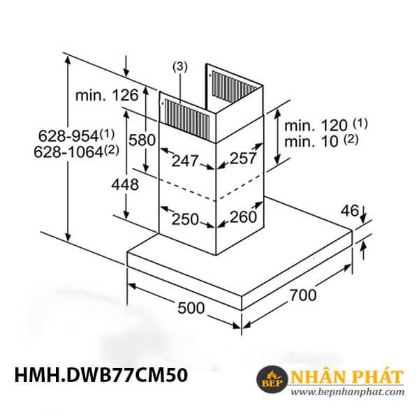 Máy hút mùi gắn tường Bosch HMH.DWB77CM50 Serie 6 - 70cm 5