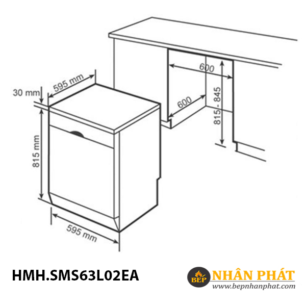 Máy rửa chén Bosch HMH.SMS63L02EA Serie 6 5