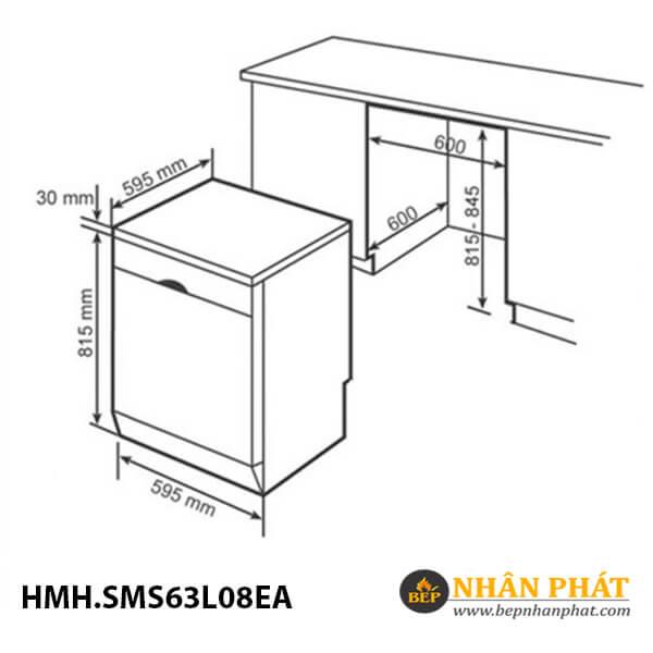 Máy rửa chén Bosch HMH.SMS63L08EA Serie 6 5