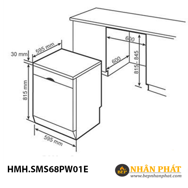 Máy rửa chén Bosch HMH.SMS68PW01E Serie 6 5