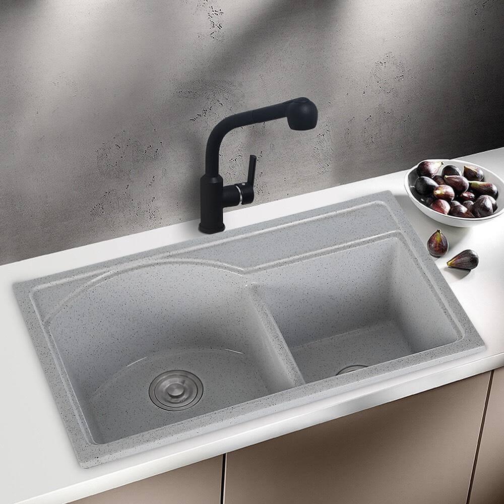 Chậu rửa chén 2 hộc đá nhân tạo IR-7845 7