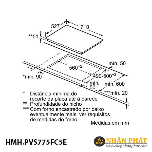 Bếp từ kết hợp 2 vùng nấu Bosch HMH.PVS775FC5E Serie 6 5