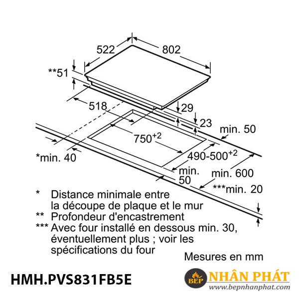 Bếp từ Bosch HMH.PVS831FB5E Serie 6 5